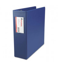 "Universal 3"" Capacity 8-1/2"" x 11"" Round Ring with Label Holder Non-View Binder, Royal Blue"