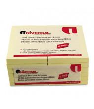 "Universal 3"" X 5"", 12 100-Sheet Pads, Yellow Sticky Notes"