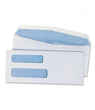 "Universal 3-5/8"" x 8-5/8"" #8-5/8 Double Window Business Envelope, White, 500/Box"