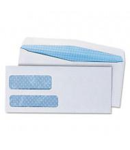 "Universal 3-7/8"" x 8-7/8"" #9 Double Window Business Envelope, White, 500/Box"