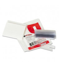 """Universal 3-1/2"""" Hanging File Folder Index Tabs, Clear, 25/Pack"""