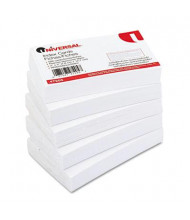 """Universal 3"""" x 5"""", 500-Cards, White Unruled Recycled Index Cards"""