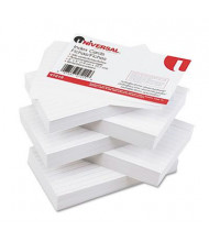 """Universal 3"""" x 5"""", 500-Cards, White Ruled Recycled Index Cards"""