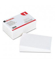 """Universal 5"""" x 8"""", 500-Cards, White Ruled Recycled Index Cards"""