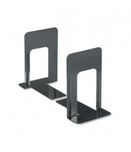 "Universal 9"" H Economy Nonskid Heavy Gauge Steel Bookends, Black"