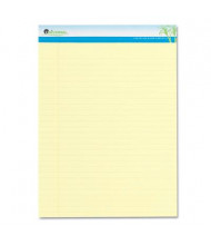 """Universal 8-1/2"""" X 11-3/4"""" 50-Sheet 2-Pack Legal Rule Notepads, Canary Paper"""