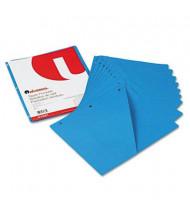 "Universal 8-1/2"" x 11"" Slash-Cut Pockets for Three-Ring Binders, Blue, 10/Pack"