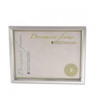 "Universal 8.5"" W x 11"" H Plastic Document Frame, Metallic Silver"
