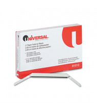 """Universal 2-3/4"""" Length 2"""" Capacity Prong Base for Paper File Fasteners, 100/Box"""