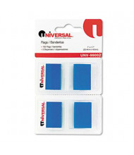 """Universal One 1"""" x 1-3/4"""" Pop-Up Page Flags, Blue, 100 Flags/Pack"""