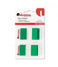 """Universal One 1"""" x 1-3/4"""" Pop-Up Page Flags, Green, 100 Flags/Pack"""