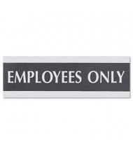 """Headline Century 9"""" W x 3"""" H Employees Only Office Sign"""