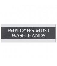 "Headline Century 9"" W x 3"" H ""Employees Must Wash Hands"" Office Sign"