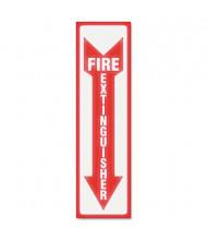 "Headline 4"" W x 13"" H Glow-in-the-Dark Fire Extinguisher Sign"