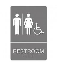"Headline 6"" W x 9"" H Restroom/Wheelchair Accessible ADA Sign"