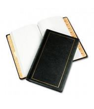 """Wilson Jones 8-1/2"""" x 14"""" 125-Page Looseleaf Minute Journal, Black Cover"""
