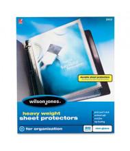"Wilson Jones 8-1/2"" x 11"" Top-Load Heavy Weight Non-Glare Sheet Protectors, 50/Box"