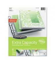 "Wilson Jones 8-1/2"" x 11"" Top-Load Extra Capacity Sheet Protectors, 5/Pack"