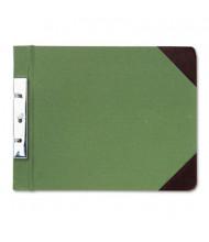 "Wilson Jones 2-3/4"" Center 8-1/2"" x 11"" Canvas Sectional Post Binder, Green"