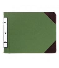 "Wilson Jones 4-1/4"" Center 8-1/2"" x 11"" Canvas Sectional Post Binder, Green"
