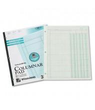 "Wilson Jones 8-1/2"" x 11"" 50-Page Side-Bound Accounting Pad, Three 8-Column"