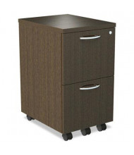 Alera SedinaAG 2-Drawer File/File Mobile Pedestal, Espresso