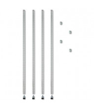 """Alera 36"""" H 4-Pack Stackable Posts for Wire Shelving, Silver"""
