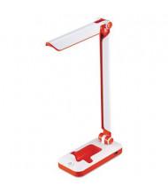 """Black & Decker 17.5"""" H LED Fold Desk Lamp, White/Red"""