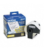 """Brother DK1209 Die-Cut 1.1"""" x 2.4"""" Paper Address Label Roll, White, 800/Roll"""