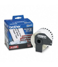 """Brother DK2205 Continuous Paper 2.4"""" x 100 ft. Label Tape Roll, White"""