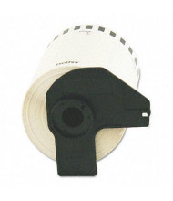 """Brother P-Touch DK2243 4"""" x 100 ft. Shipping Label Roll, White"""