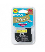 """Brother P-Touch MK631 M Series 1/2"""" x 26.2 ft. Tape Cartridge, Black on Yellow"""