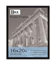 "DAX Flat Face Wood Poster Frame, 16"" W x 20"" H, Black Border"
