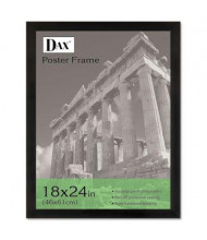 """DAX Black Solid Wood Poster Frame with Plastic Window, 18"""" W x 24"""" H"""