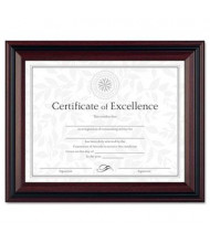 """DAX Two-Tone Document Frame, 8.5"""" W x 11"""" H, Rosewood and Black"""