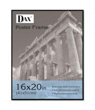 "DAX Coloredge Poster Frame, 16"" W x 20"" H, Black Border"