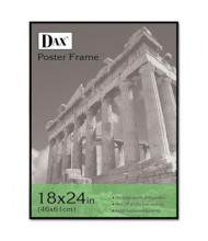 "DAX Coloredge Poster Frame, 18"" W x 24"" H, Black Border"