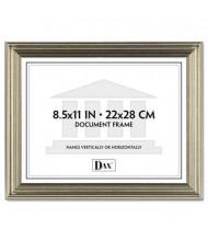 "DAX Antique Metal Document Frame, 8.5"" W x 11"" H, Silver"