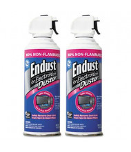 Endust 10oz Nonflammable Compressed Gas Duster, 2/Pack
