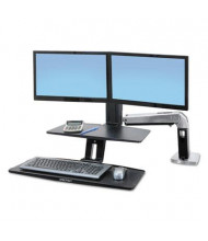 Ergotron WorkFit-A Sit-Stand Dual Monitor Sit-Stand Converter Desk Mount with Suspended Keyboard