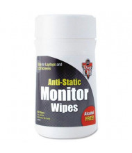 Dust-Off Premoistened Monitor Cleaning Wipes Can, 80 Wipes