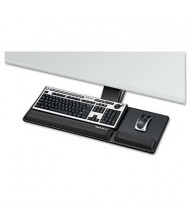 """Fellowes Designer Suites 17-5/16"""" Track Compact Keyboard Tray, Black"""