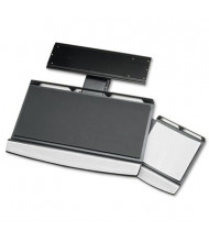 """Fellowes Office Suites 17-1/4"""" Track Adjustable Keyboard Tray, Black/Silver"""