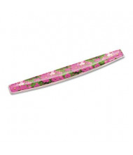 """Fellowes 18-1/2"""" x 2-5/16"""" Photo Gel Keyboard Wrist Rest with Microban Protection, Pink Flowers"""