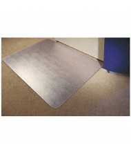 "Floortex Cleartex Ultimat Carpet 48"" W x 60"" L, Beveled Edge Chair Mat 1115223ER"