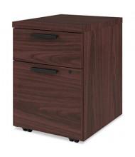 HON 105106NN 2-Drawer Box/File Mobile Pedestal, Mahogany