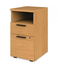 HON 105109CC 2-Drawer Shelf/Box/File Mobile Pedestal, Harvest