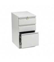 HON Efficiencies 33720RQ 3-Drawer Box/Box/File Radius Pull Mobile Pedestal, Light Gray