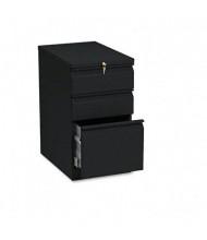 HON Brigade 33723RP 3-Drawer Box/Box/File Radius Pull Mobile Pedestal, Black