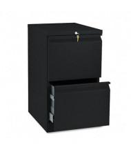 HON Efficiencies 33820RP 2-Drawer File/File Radius Pull Mobile Pedestal, Black